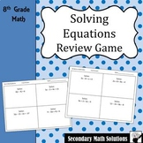 Solving Equations Review Game