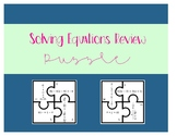 Solving Equations Review Puzzle Activity