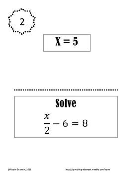 Solving Equations Review Scavenger Hunt