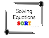 Solving Equations SORT