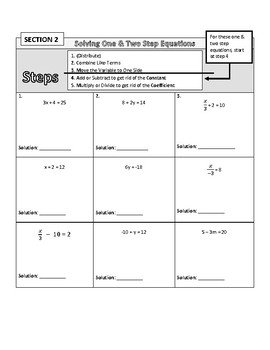 Solving Equations (Scaffolded Practice + Exit Ticket)