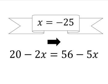 Solving Equations Scavenger Hunt SOL 8.15a
