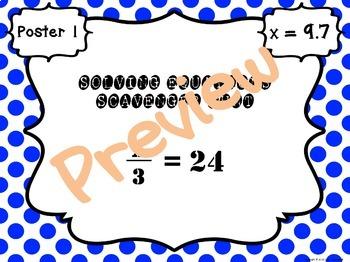Solving One-Step Equations Scavenger Hunt