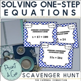 Solving One Step Equations Activity Scavenger Hunt