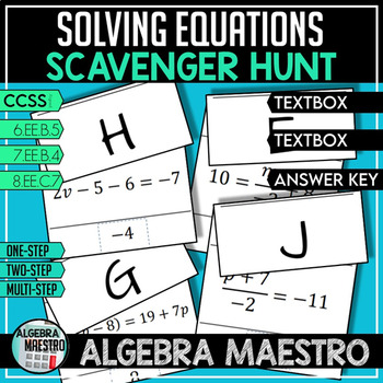 Solving Equations - Scavenger Hunt