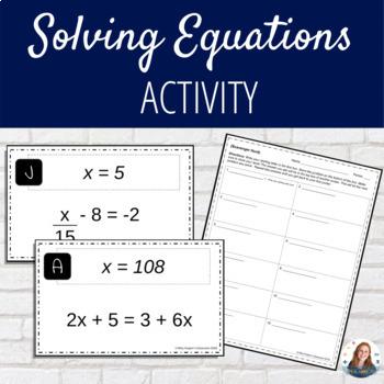 Scavenger Hunt: Solving Equations