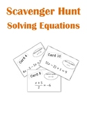 Solving Equations Scavenger Hunt Activity (Multi-Step Equa