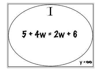 Solving Equations Scavenger Hunt - w/ Variables on Both Sides!