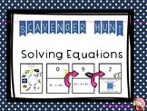 Solving Equations Scavenger Hunt