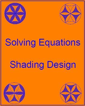 Solving Equations - Shading Design (20 problems)