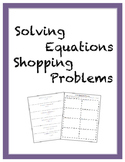 Solving Equations Shopping Problems