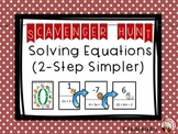 Solving Simpler 2-step Equations Scavenger Hunt