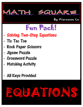 Solving Two Step Equations FUN PACK!