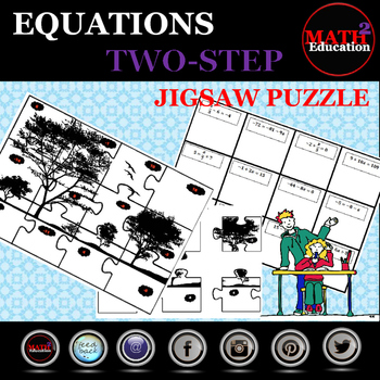 Solving Two Step Equations Jigsaw Puzzle