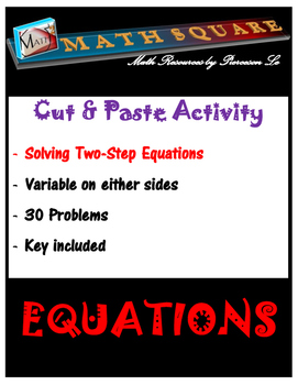 Solving Two Step Equations Matching