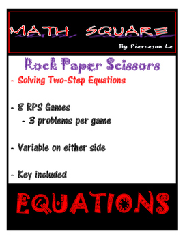 Solving Two Step Equations Rock Paper Scissors