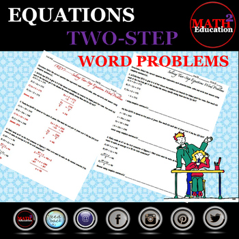 Solving Two Step Equations Word Problems