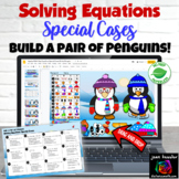 Solving Equations Special Cases Digital Build a Penguin Self checking
