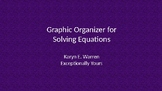 Solving Equations: Steps and Graphic Organizers for Students