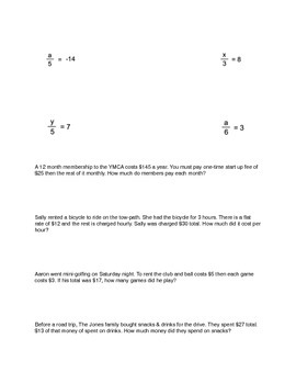 Solving Equations Study Guide