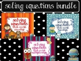 Solving Equations Task Card Bundle