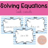 Solving Equations Task Cards #falldealssped