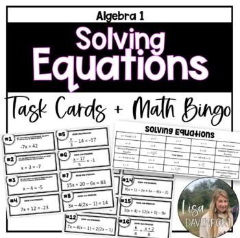Solving Equations (Task Cards OR MATHO)