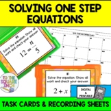Solving One-Step Equations Task Cards for Distance Learning