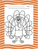 Solving Equations, Thanksgiving Color By Number Worksheet