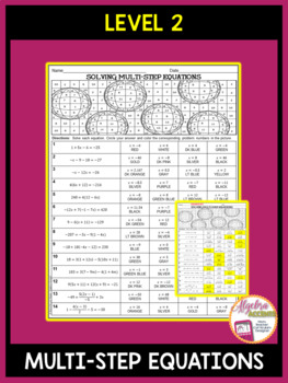Solving Equations Thanksgiving Algebra Activity (3 Differentiated Levels)