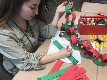 Christmas Algebra Solving Equations Garland