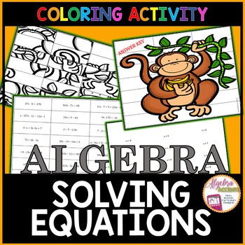 Solving Equations: Two-Step, Multi-Step, Variables on Both Sides Jumble Puzzle