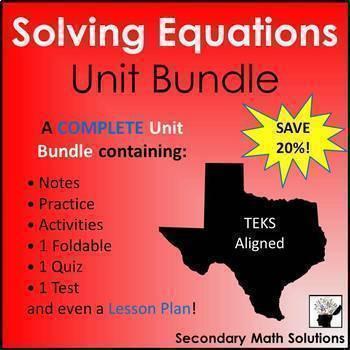 Solving Equations (Complete Unit Bundle)