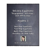 Solving Equations Unit - Engagement Activities and APP-tivities!