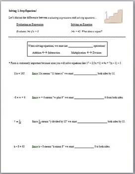 Solving Equations Unit (Guided Notes and Assessments)