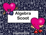 Solving Equations Using All 4 Operations-Valentine's Day-Algebra Scoot