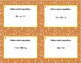 Solving Equations Using All Four Operations- Grade 6 Algebra-Task Cards-Fall