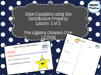 Solving Equations Using Distributive Property Lesson 2 of 2
