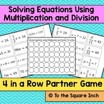 Solving Equations Using Multiplication and Division Game