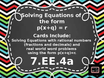 Solving Equations Using Rational Numbers {7.EE.4a}