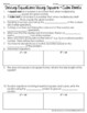 Solving Equations Using Square and Cube Roots Notes