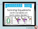 Solving Equations (Variables on Both Sides - Harder) Scave