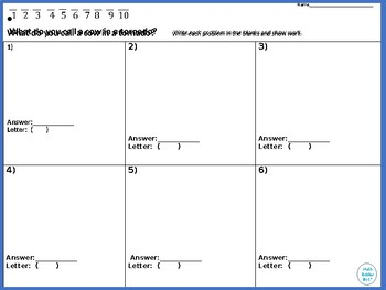 Solving Equations With Fractions Walk Around or Gallery Walk with a Riddle