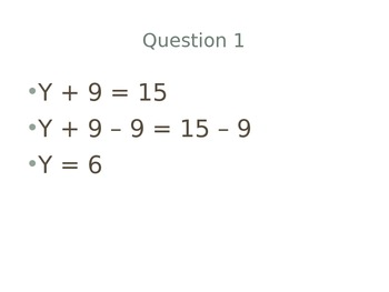 Solving Equations With Like Terms