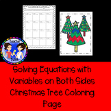 Solving Equations With Variables on Both Sides Christmas Tree Coloring Page