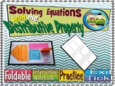 Solving Equations With the Distributive Property, Foldable