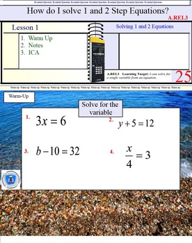 Solving Equations and Inequalities- 5 Lessons- A.REI.b3