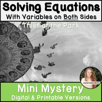 Solving Equations and Inequalities Activity! Mystery!