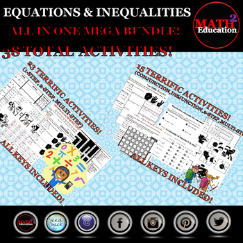 Solving Equations and Inequalities MEGA BUNDLE!!!