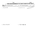 Solving Equations and Inequalities Quiz or practice